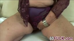 Hot granny is fucked hard by young man
