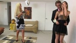 Remys stepmom licks and fucks her gets caught by her bo