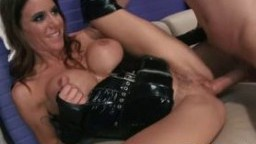Cfnm duo in leather jerk and suck hard