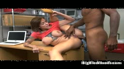 Brunette Harlow Harrison Getting Smashed By Black Dink