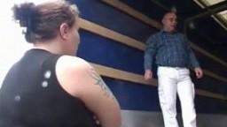 Horny fat girl gets nasty facial