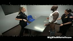 White Cops Sucking Off Black Dude In Interogation Room