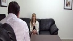 Pretty Blonde Gets Eaten Out During Audition for Backroom Casting Couch
