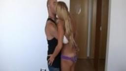 Viterbo-Stefanin con bellissima bionda arrapante / beautiful blonde very slut