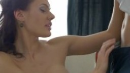 Big tits beauty in lingerie fucked anally