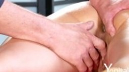 Yonitale: hot massage and licking with sexy blond and stunning brunette