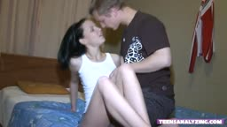 Brunette Teen And Her Big Cock BF
