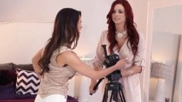 Gorgeous lesbian model surrenders to redhead beauty