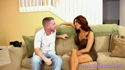 Stepson keeps this hot MILF company