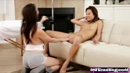 Young Chinese Cutie Alina Li Sucks Hard Dick In Front Of Holly Michaels