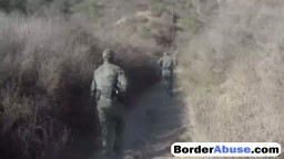 Magnificent Latina teen babe slammed hard outdoor by border patrol agent