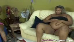 Six black girls in hot lesbian pregnant orgy