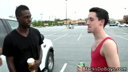 White twink Cody Bristol takes on two black cocks