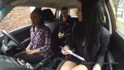 Driving examiner and ebony had oral in car