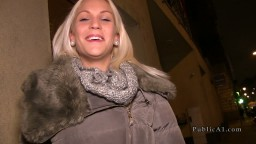 Hungarian blonde gets quick fuck in public