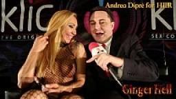 Ginger Hell si mette un leccalecca nella figa con Andrea Diprè