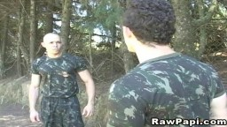 Two White Military Fucked Outdoor